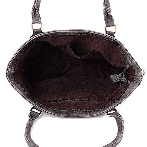 Kukubird Katrina Tote Bag borsa Casual tutti i giorni Grey