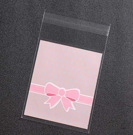 SMHILY 25 Stücke Bogen Dot Kawaii Cookies Keks Verpackungsbeutel Kunststoff Selbstklebende Geschenk Taschen Für Kuchen Süßigkeiten Weihnachten Hochzeit Gastgeschenke