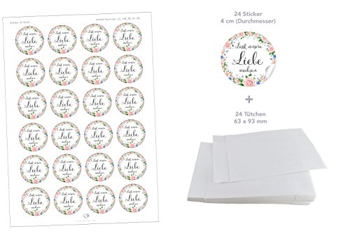 SET für BLÜTENSAMEN: 24 Sticker