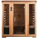 SaunaMed 4 Person Luxury Cedar FAR Infrared Sauna...