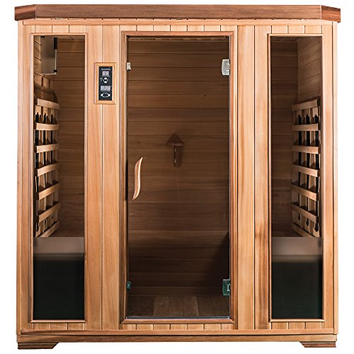 SaunaMed 4 Person Luxury Cedar F...