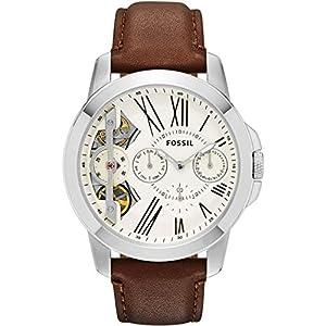 Fossil Grant Reloj de Quartz plata marca Fossil