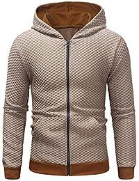 189568a44cb1 LianMengMVP Hommes Manche Longue Automne Hiver Décontractée Sweat-Shirt  Manteau à Capuche Survêtements