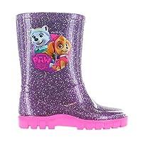 Girls Paw Patrol Wellies Wellington Boots Snow Boots (Girls UK 8, Purple)