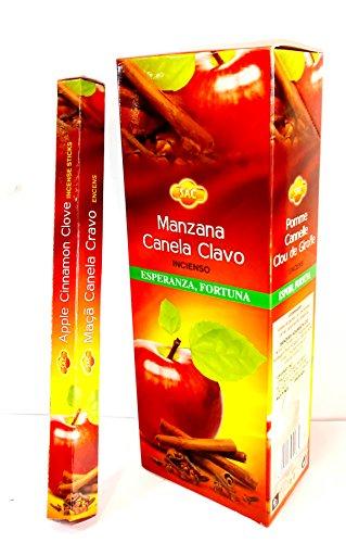 Encens Pomme–canela- Clou (3dans un) 6Paquets de 20bâtons/U, un total de bâtons pour l'espoir et la fortune