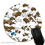 Maus-Pad Bison Buffalo Stampede,7 inch rund Mouse-Pad mit rutschfester Unterlage Standard 1V81