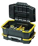 Stanley Kombi Werkzeugbox/Organizer (31x24.7x50.7cm, mit flexiblen Innenteilern, spezielles Clip Verbindungssystem, Deckel vollständig abnehmbar) STST1-71962