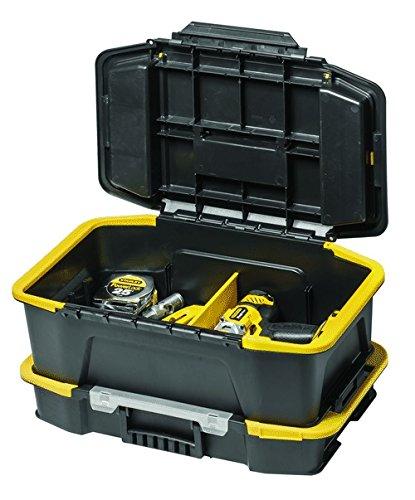 Stanley Kombi Werkzeugbox / Organizer (31x24.7x50.7cm, mit flexiblen Innenteilern, spezielles Clip Verbindungssystem, Deckel vollständig abnehmbar) STST1-71962 -