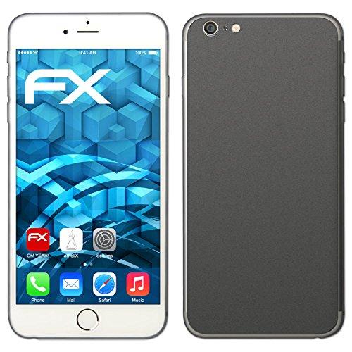 """Skin Apple iPhone 6 Plus """"FX-Carbon-Black"""" Designfolie Sticker FX-Soft-Silver-Grey"""
