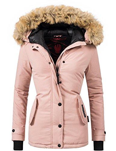 Navahoo Damen Jacke Winterjacke Winterparka Laura (vegan hergestellt) Rosa Gr. XL