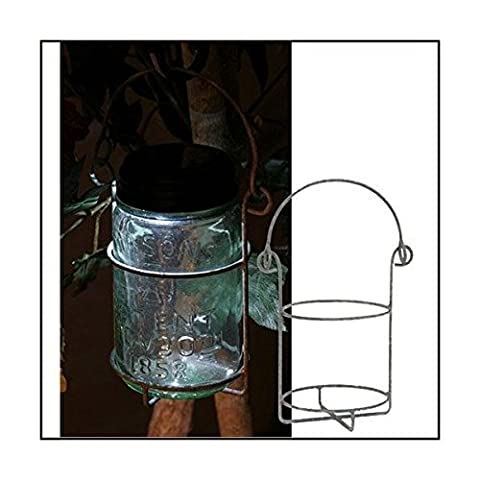 Mason Jar Pint Hanging Caddy Barn Roof Finish by Colonial Tin (Pint Mason Jar)