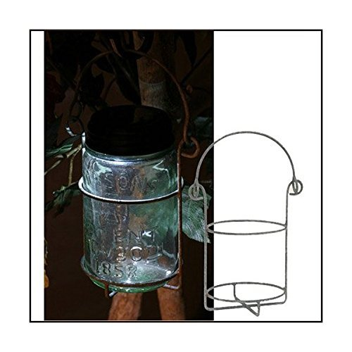 Mason Jar Pint Hanging Caddy Barn Roof Finish by Colonial Tin Works