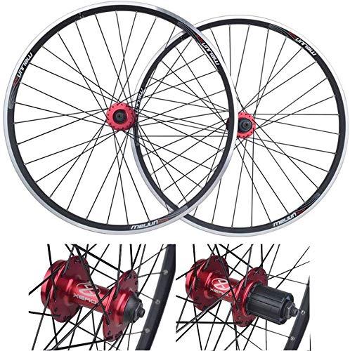 Llantas de bicicleta de montaña, rueda trasera, juego de ruedas de bicicleta de 26 pulgadas, doble...
