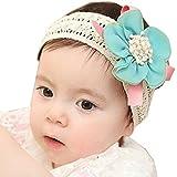 Fullkang Infant Baby Lace Flower Hair Band Headband Elastic Hair Headwear (blue)
