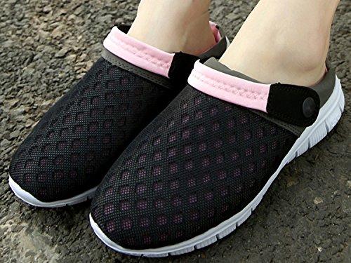 Chinelos Unisex Rosa Malha Chinelos adult Sapatos Homens De Respirável Preto Slipper Anti derrapante Tamancos Mulas Sandálias qTBRwSB1