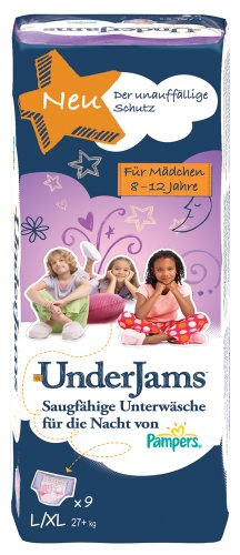 Pampers Windeln UnderJams Gr. L/XL Girl 27+kg, 4er Pack (4x9 Stück)