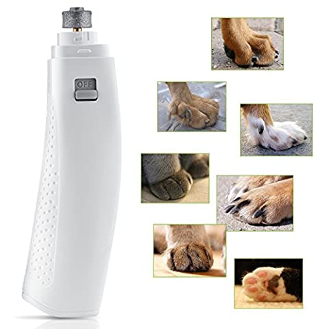 [Upgraded Version] Pet Nail Grinder, OMorc Gentle Paws Premium Electric Nail Grinder/Trimmer/Clipper with 2 x 1.5V AA Battery For Dogs and Cats