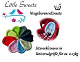 Little Sweetz ** COSY SOFT ** Sitzverkleinerer / NeugeborenenEinsatz für BabyAutositz Gr. 0/0+ wie z.B. Maxi Cosi, Römer etc. (Schwarz)