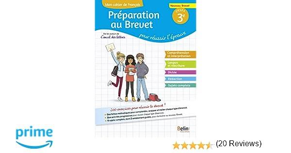 Amazon Fr Mon Cahier De Francais 3e Preparation Au
