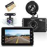 Dashcam Autokamera, Full HD 1080P Videorecorder mit 170° Weitwinkelobjektiv, G-Sensor, WDR, Bewegungserkennung, Parkmonitor, Loop-Aufnahme, Nachtsicht