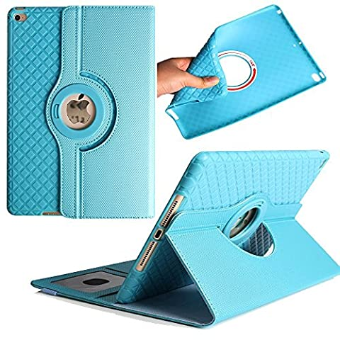 iPad Air Coque/Case, Avril Tian magnétique rotatif à 360 ° support de fin avec emplacements pour cartes Smart écran de protection amovible Coque pour tablette Apple iPad Air 9.7 inch