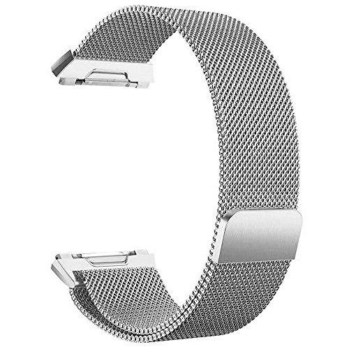 FashionAids für Fitbit Ionic Bands Träger, Milanaise Loop Edelstahl Metall Armband mit einzigartige Magnet Schloss für Fitbit Ionic Fitness Tracker (Keine Tracker)
