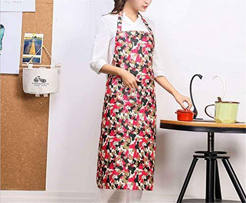 YXDZ (2 Stücke Unisex Lange Schmutzige wasserdichte Ölbeständige Camouflage Schürze Küche Haushaltsgeschenk Mode Taille A