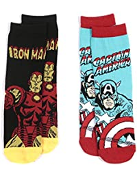 Marvel Avengers Boys Calcetines de tobillo Ironman, Capitán América y Hulk