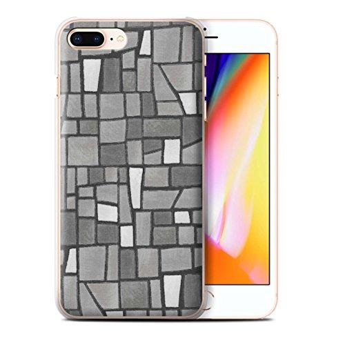 Stuff4 Hülle / Case für Apple iPhone 8 Plus / Grey/White Muster / Mosaik Fliese Kollektion Grey/White