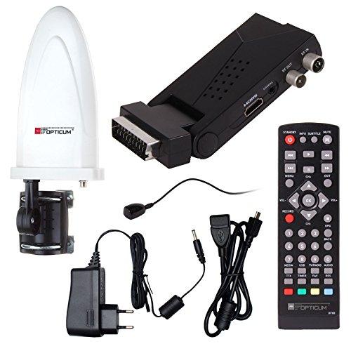 DVB-T/T2 SET: Opticum HD AX Lion Air 2 HEVC DVB-T/T2 Receiver + Opticum HD750 DVB-T/T2, FM, DAB Aktive Antenne (Full HD, HEVC/H.265, HDTV, HDMI, SCART, USB 2.0 DVBT DVBT2 DVB-T2)