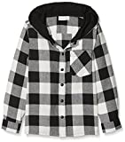 NAME IT Jungen Hemd NMMGILIAS LS Shirt W Hood, Weiß (Snow White), 110