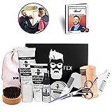 BarFex 11-in-1 Bartpflegeset - Herren Rasur Set - Hochwertiges Männer Geschenk + Bartpflege E-Book