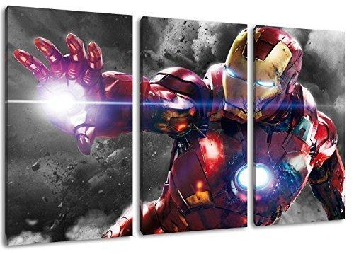 Ironman conception, la 3-pièces de toile (Total Taille: 120x80 cm), d'impression d'art de haute qualité comme une fresque. Moins cher qu'une peinture à l'huile! ATTENTION NO affiche!