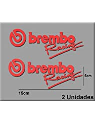 PEGATINAS STICKERS BREMBO RACING R48 AUFKLEBER DECALS AUTOCOLLANTS ADESIVI (ROJO/RED)