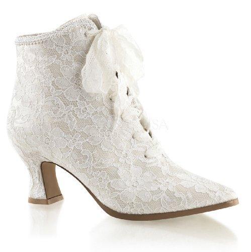 Higher-Heels Fabulicious Ankle-Booties Spitze Victorian-30 Elfenbein Gr.36 (Heel Bootie Ankle)