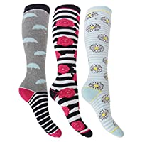 Womens/Ladies Hyperwarm Long Thermal Welly Socks (3 Pairs)