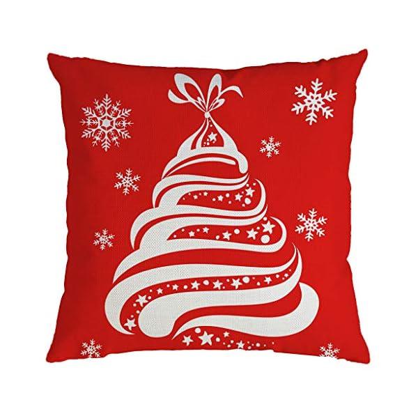 IJKLMNOP Christmas Pillow Square Pillow Case Lino Mat 45x45cm es Adecuado para oficinas, Casas, automóviles, cafeterías… 18