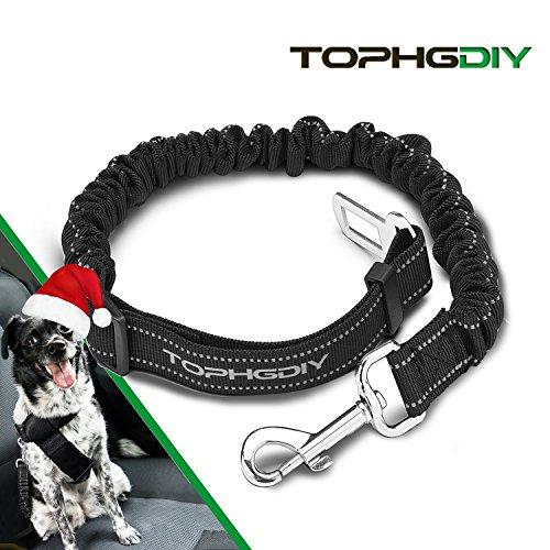 TOPHGDIY Premium Hunde Sicherheits Gurt  Katzen Auto Sicherheitsgeschirre Hunde , einstellbar Hundegurt mit elastische Ruckdämpfung für alle Hunderassen