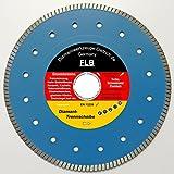 Diamanttrennscheibe im Trennscheibenshop Trennscheibe FLB_Ø 85 mm, B= Ø 15,0 mm, Premium, Feinsteinzeug, Keramik, glasierte Klinker etc.