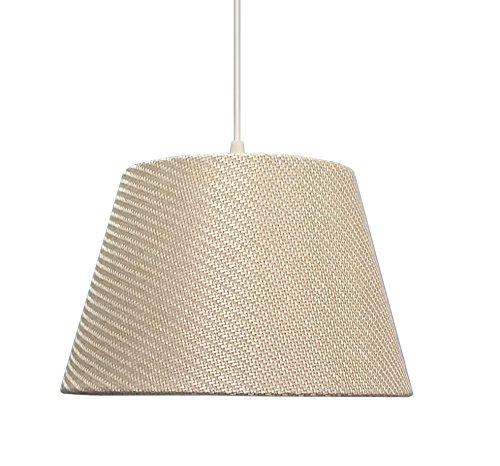 kliving-305-cm-creme-en-tissu-texture-de-plafond-lampe-de-table-abat-jour-tambour