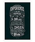 """Lab No. 4 Experience Is Not What Happens To A Man Aldous Huxley Inspirational Quotes Poster Size A3 (16.5"""" x 11.7"""")"""