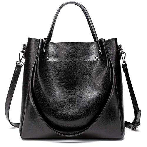 LYLb Umhängetasche - Große Kapazität Damen Tasche Tote Korean Fashion Schultertasche Eimer Tasche (Farbe : Schwarz)