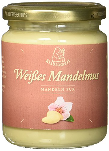 Nürnberger Bio Originale Eisblümerl Weißes Mandelmus Mandeln pur, 250 g