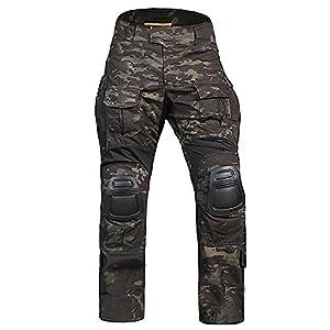 tactique militaire armée chasse EDR hommes Gen3G3combat Pantalon avec genouillères pour airsoft Paintball Camouflage Noir
