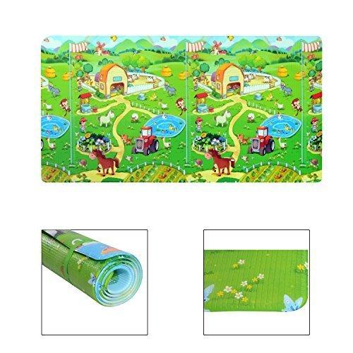 Homcom - Tappetino Gioco Morbido Pratico con Animali per Bambini 180 x 120 x 1.2cm Colori Assortiti