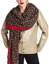 DAMILY Femmes Hiver Trendy Léopard Imprimé Animal Echarpe Châle Wrap Élégant  Long Pashmina Couverture Foulards bc666ef36e3