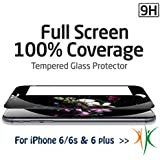 iPhone 6 Plus Screen Protector, New design [3D Touch Compatible] Full screen cover, 3D curved Premium Tempered Glass Screen Protector Film for Apple iPhone 6 and iPhone 6Plus