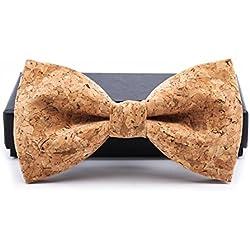 KOOWI La Corbata de Madera Hecha a Mano del Lazo de Madera de Los Hombres Creativos Handcrafted para la Boda o el Desgaste Diario (A)