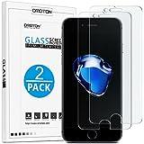 OMOTON [2-Unidades] Cristal Templado iPhone 7 Protector de Pantalla [2.5d Borde redondo]con[9H Dureza][Alta Definicion][Garantía de por vida]