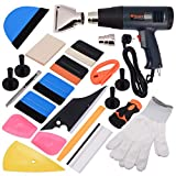 Ehdis® 16 Tipi di Kit per tintura per finestre per Finitura a Pellicola in Vinile per Set di Tinte di Pellicola Automatica Installazione o rimozione dell'apparecchio con Display a Caldo